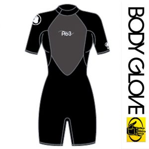 Женский гидрокостюм BODY GLOVE 2015 PRO3 2/1MM SPRINGSUIT SHORTY BLACK
